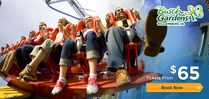 20 Off Busch Gardens Williamsburg Virginia Tickets Coupon
